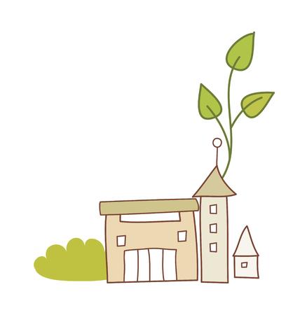 vector illustration: building