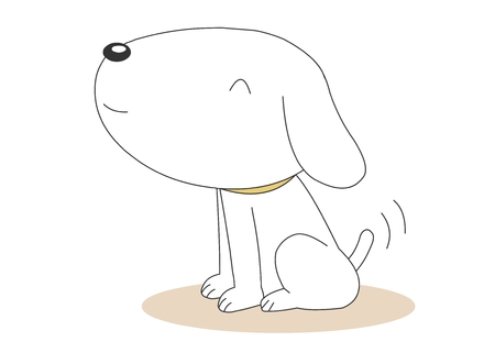 Animal character vector illustration-puppy