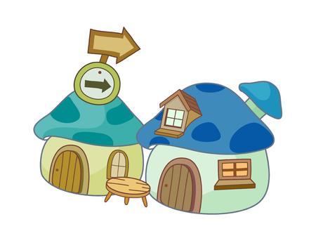 children's story: vector illustration: house Illustration