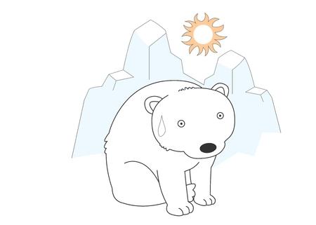 Animal character vector illustration-polar bear