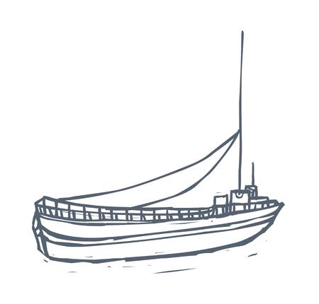 balustrade: vector illustration: boat