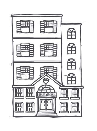 vector illustratie: house Stock Illustratie