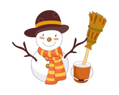 vector illustration: snowman