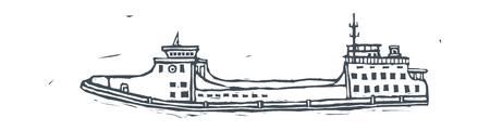 Concept van een vectorillustratie: boot Stock Illustratie