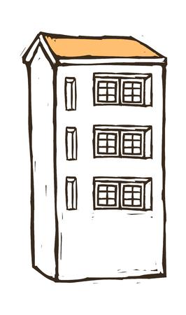 multistorey: Multi-storey house vector illustration
