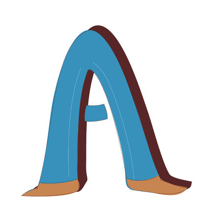 vector illustration of the letter A. Illustration