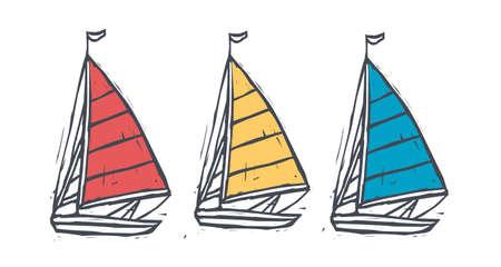 vector illustration: boat