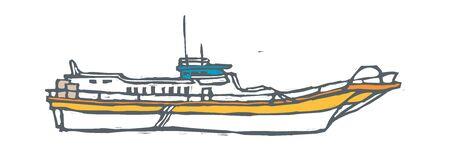 Yacht vector illustration Illustration