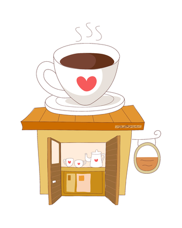 vector illustration: cup
