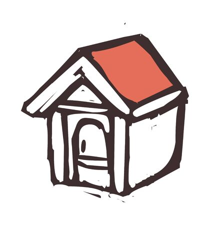 doghouse: vector illustration: structure
