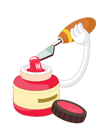 paint container: vector illustration: education