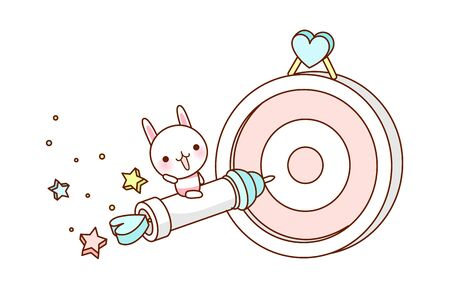 dartboard: vector illustration: character Illustration