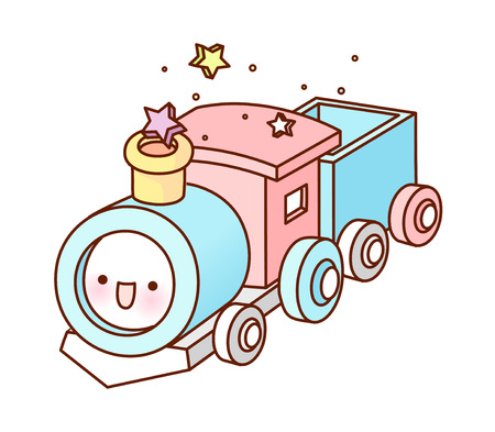 vector illustration: train Illusztráció