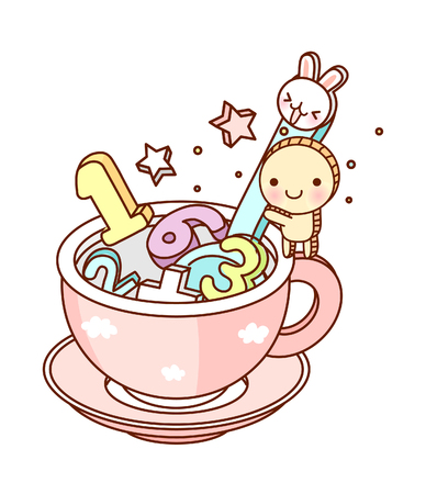 children's story: vector illustration: cup