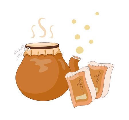 A vector illustration: medicine. Illustration