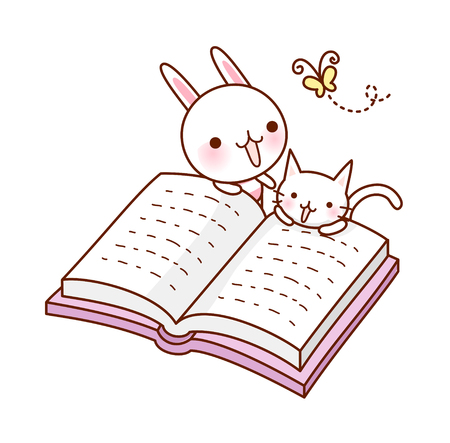 A  vector illustration: book