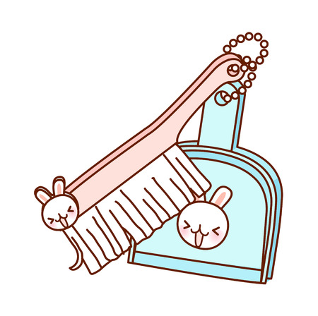 vector illustration: cleaning