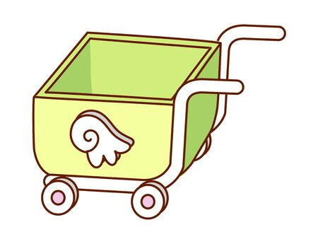 vector illustration: cart