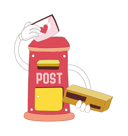 vector illustration: post