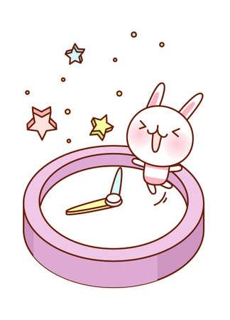 children's story: vector illustration: time