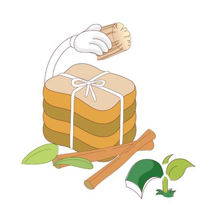 A  vector illustration: food