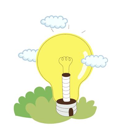 A  vector illustration: light
