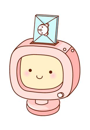 children's story: vector illustration: mail