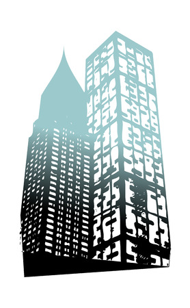A  vector illustration: building