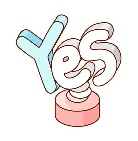 A  vector illustration: word Illustration