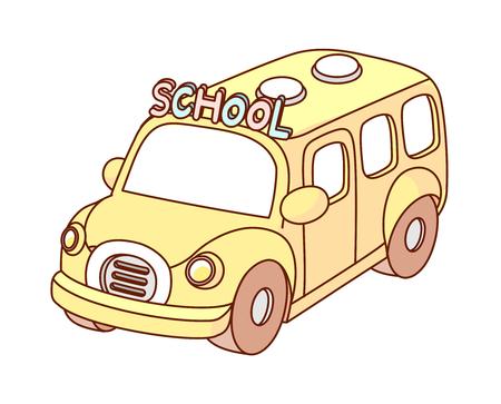 escuela infantil: Una ilustración vectorial: vehículo Vectores