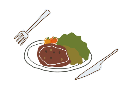 mode: A  vector illustration: food