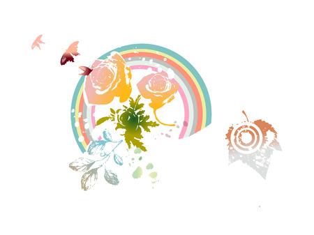 A  vector illustration: umbrella