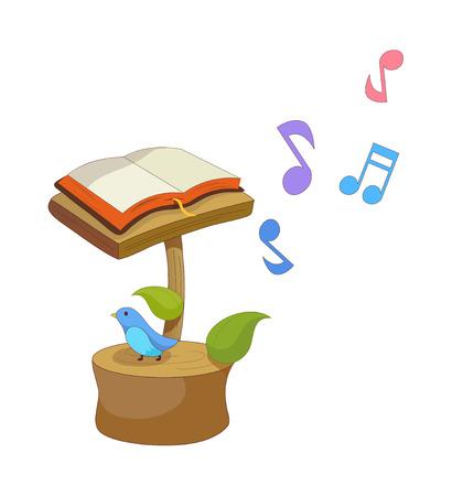 A  vector illustration: music Illustration