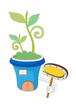 A  vector illustration: plants