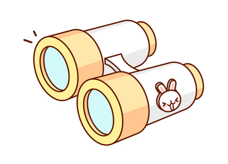 A  vector illustration: binocular