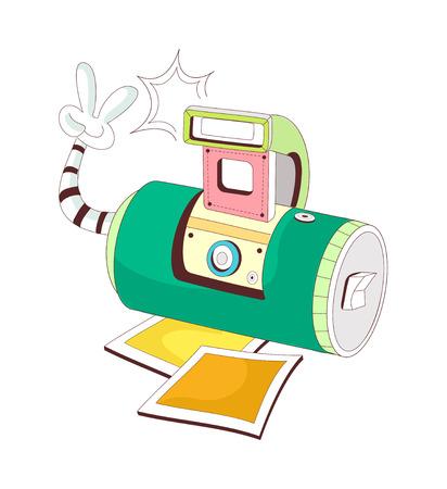 vector illustration: camera