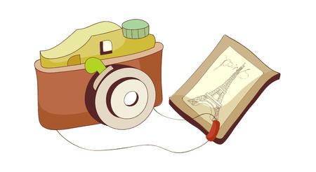 A  vector illustration: camera Ilustracja