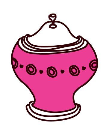 vector illustration: jar