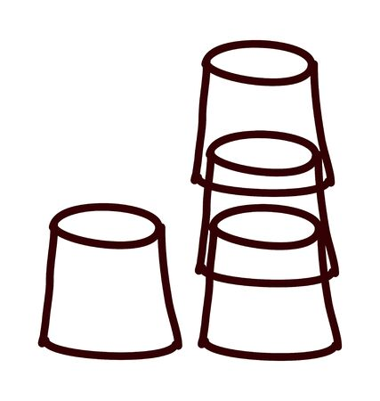 vaso de precipitado: vector illustration: cup
