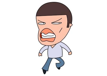 crewcut: Angry man vector illustration Illustration
