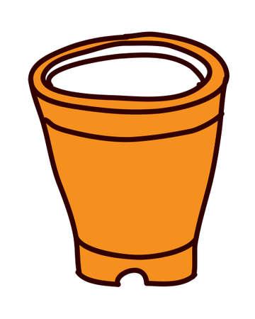 vector illustration: bucket