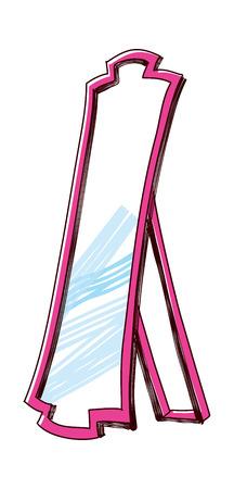 vector illustration: mirror Ilustrace