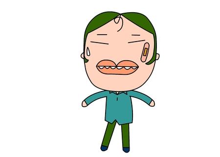 Naughy kid vector illustration Illustration