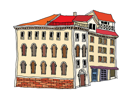 veranda: vector illustration: house Illustration