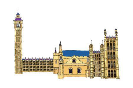 conflagration: Vector illustration: landmark.
