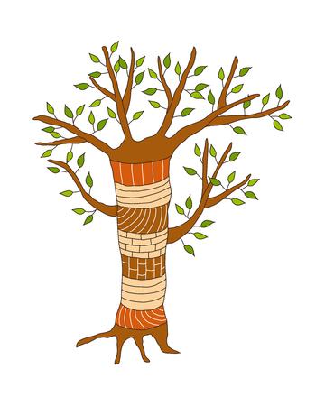 children's story: vector illustration: tree