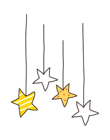 children's story: Vector illustration: star