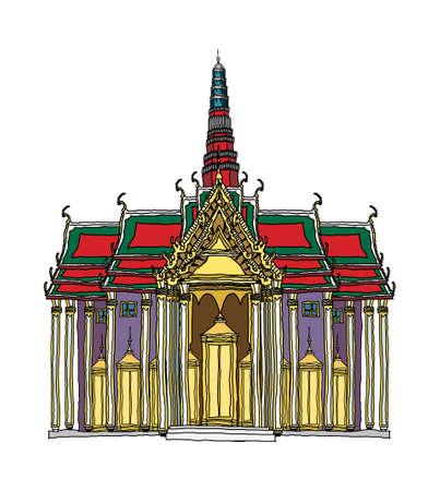 conflagration: Cartoon illustration: landmark. Illustration