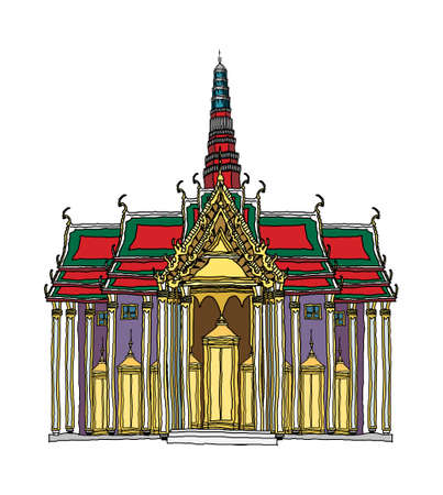 Cartoon illustration: landmark. Illustration