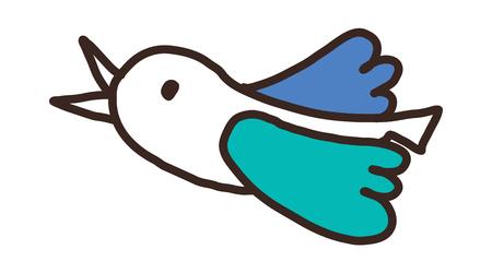 Cartoon illustration: bird.